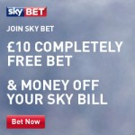 £10 free bet with Skybet